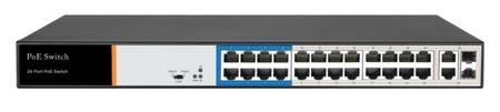 SPE10224D SWITCH INTERNEC  / 100Mbps / VLAN / 26 portów / 2Gb + 2SFP + 24PoE / RACK (1)