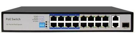 SPE10216E SWITCH INTERNEC  / 18 portów / 2Gb + 1SFP + 16PoE / RACK  (1)