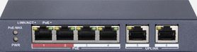 SPE124E SWITCH INTERNEC  / 6 portów / 2FE + 4PoE