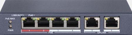 SPE124E SWITCH INTERNEC  / 6 portów / 2FE + 4PoE (1)